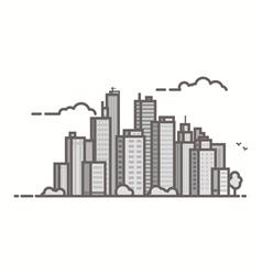 Line city vector image