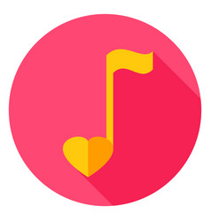 musical note circle icon vector image vector image