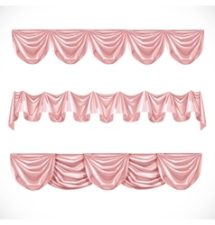 Pink pelmet isolated on a white background vector image