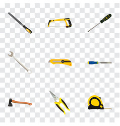 Realistic carpenter sharpener chisel and other vector