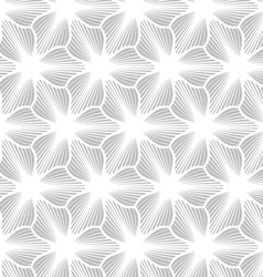 Slim gray hatched trefoils vector image