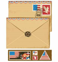 usa envelope and stamps vector image