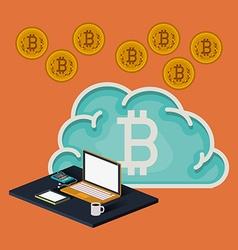 bitcoin trading vector image