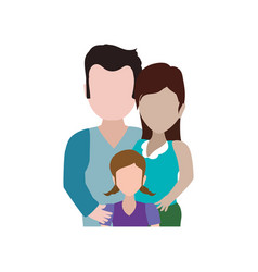 couples relationship family child faceless vector image