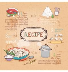 Food ingredients recipe vector