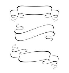 ribbon banner set vector image