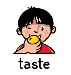 Taste Sense icon vector image