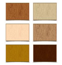 Wood Textures Set vector image vector image