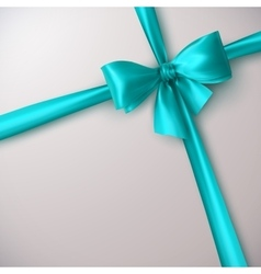 Azure Bow And Ribbon vector image vector image