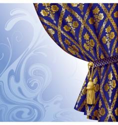 blue drape vector image