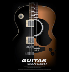 guitar concert poster background template vector image