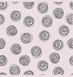 hand drawn circle background vector image