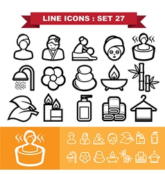 Line icons set 27 vector image vector image