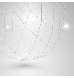 Modern Abstract Futuristic Low Poly Shape vector image
