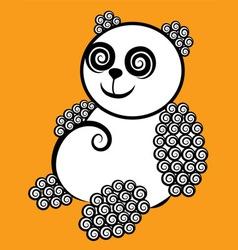 Panda decorative vector image vector image