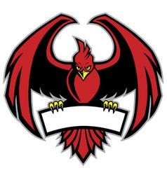 red bird mascot vector image vector image