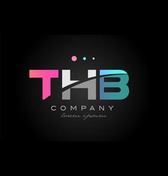 thb t h b three letter logo icon design vector image vector image