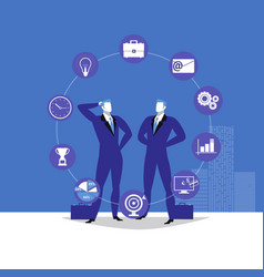 two businessmen and vector image