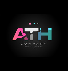 ath a t h three letter logo icon design vector image vector image