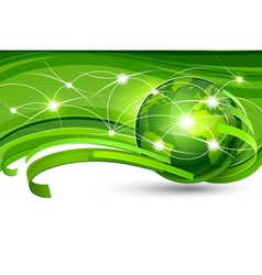 Green planet vector image vector image