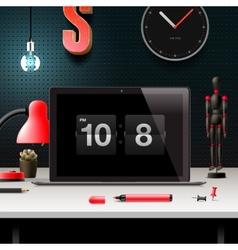 Modern design concept office workspace vector image