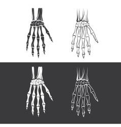 set of skeleton hands vector image