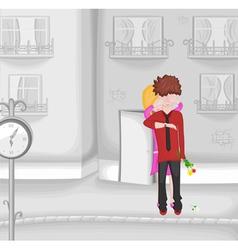surprise romantic date vector image