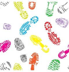 track shoe seam vector image vector image