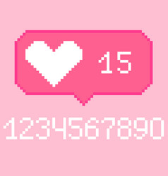 8 bit like bubble icon with digits vector
