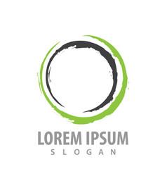 abstract circle line logo concept design symbol vector image