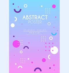 abstract poster original creative graphic design vector image
