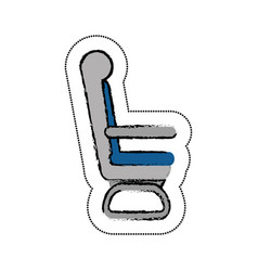 airplane chair isolated icon vector image