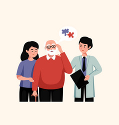 Alzheimer disease flat vector