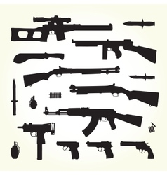 Army weapons vector