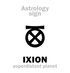 Astrology planet ixion vector