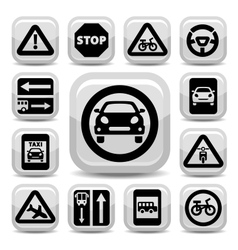 auto traffic signs vector image