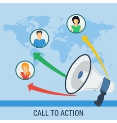 Banner call to action vector