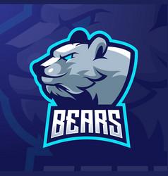 Bear esports logo vector
