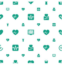 beat icons pattern seamless white background vector image