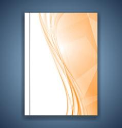 Bright orange crystal folder design vector