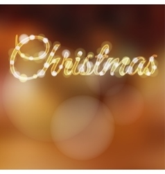 Christmas background with glitter lights vector image