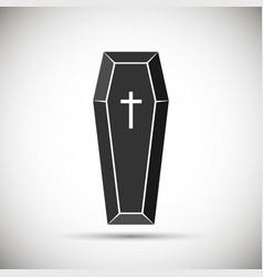 Coffin icon vector