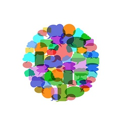 Color speech bubble group vector