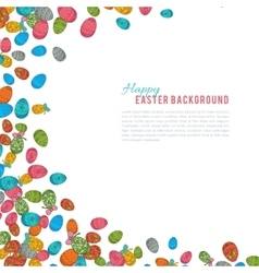 Colorful easter egg isolated on white background vector image
