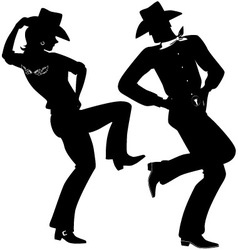 Cowboy dance vector image