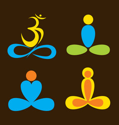 creative yoga pose vector image