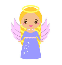 cute angel kawaii style religious holidays vector image