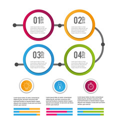Data infographic business information success vector