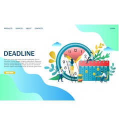 deadline website landing page design vector image