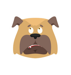 Dog confused emoji oops face avatarpet perplexed vector